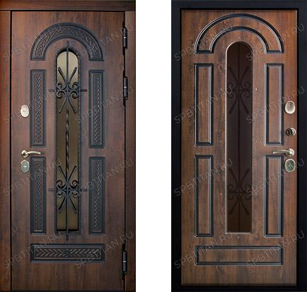Дверь Цитадель Vitra 13 см Винорит Патина