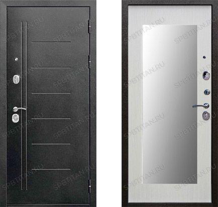 Дверь Цитадель 10 см Троя Серебро Макси Зеркало