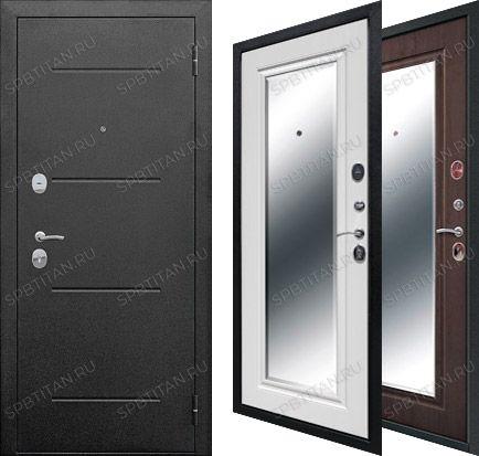 Дверь Цитадель Гарда 7,5 см Серебро Зеркало Фацет