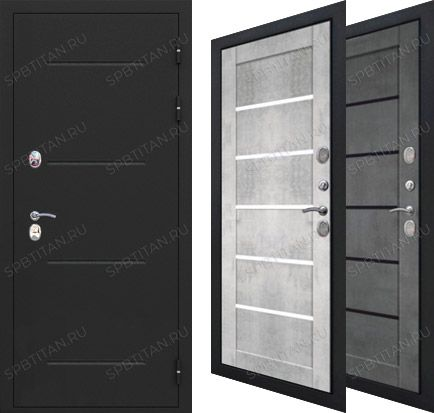Дверь Цитадель Isoterma 11 см Букле Черный Царга