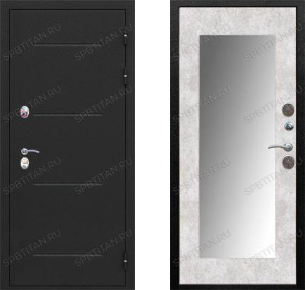 Дверь Цитадель Isoterma 11 см Букле Черный Зеркало Maxi